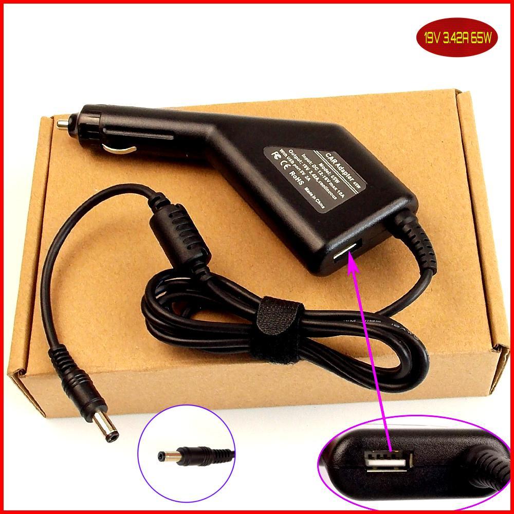 محمول العاصمة السلطة سيارة محول شاحن 19 فولت 3.42A + USB لتوشيبا A80-116 A80-117 A80-121 A80-122 L25 L730 l745 L745D