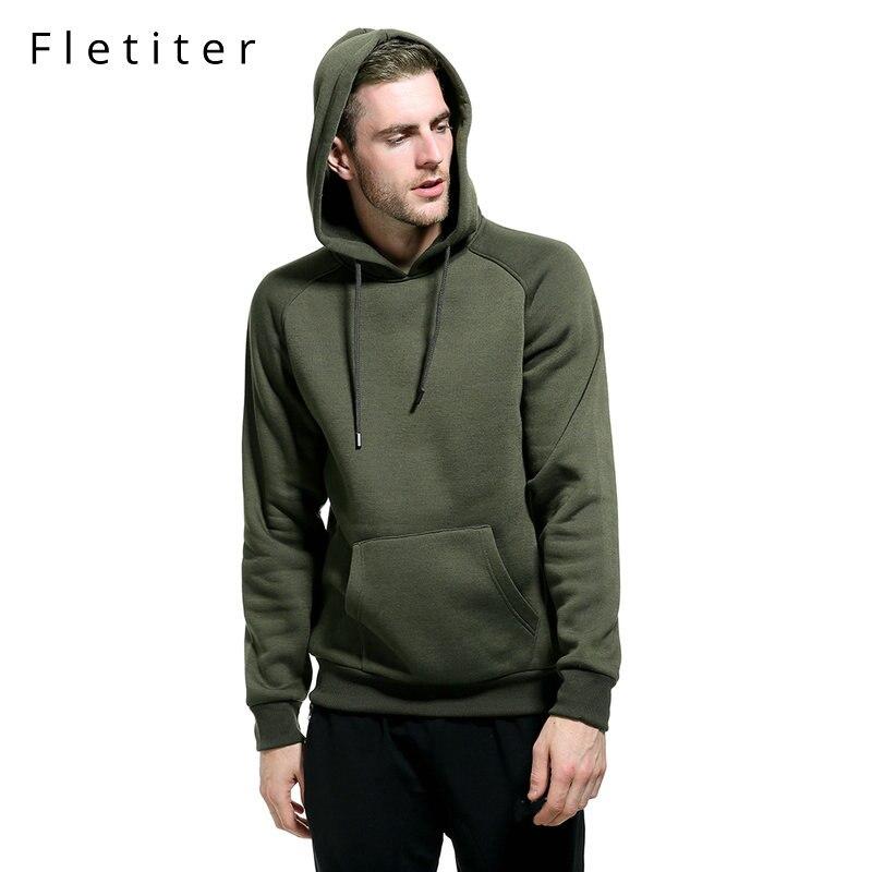 Fletiter 付きプルオーバー StreetwearSolid 色パーカートレーナーヒップホップ冬フリースパーカ綿ユーロサイズ 2XL 秋