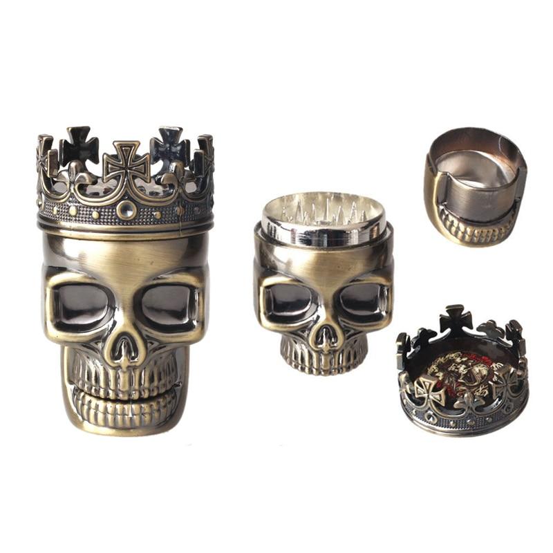 King Skull металлическая табачная травяная мельница для пряностей измельчитель 3-слойный ручной Мюллер для мужчин