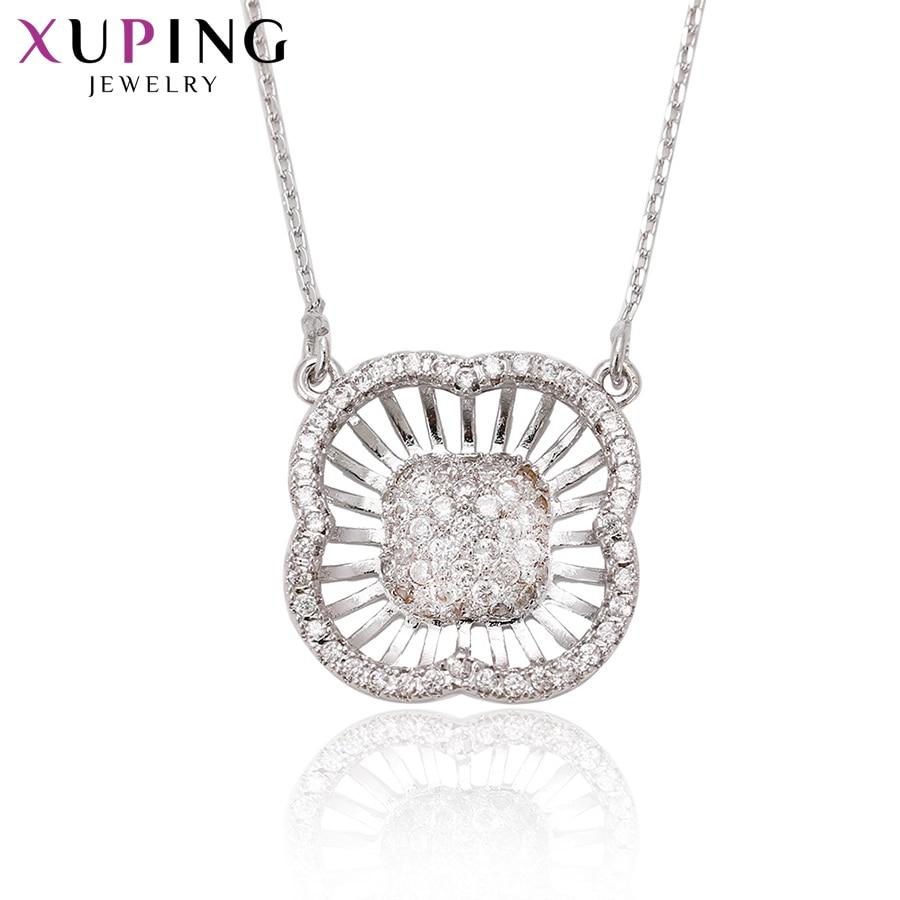 Xuping collar elegante a la moda estilo de abalorio collar largo para mujeres niñas cadena joyería Venta caliente regalos de Acción de Gracias S65-1-41732