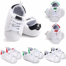 Newborn Baby Shoes Toddler Infant Baby Girl Boys Soft Sole Canvas Crib Shoes Sneaker Prewalker Venti