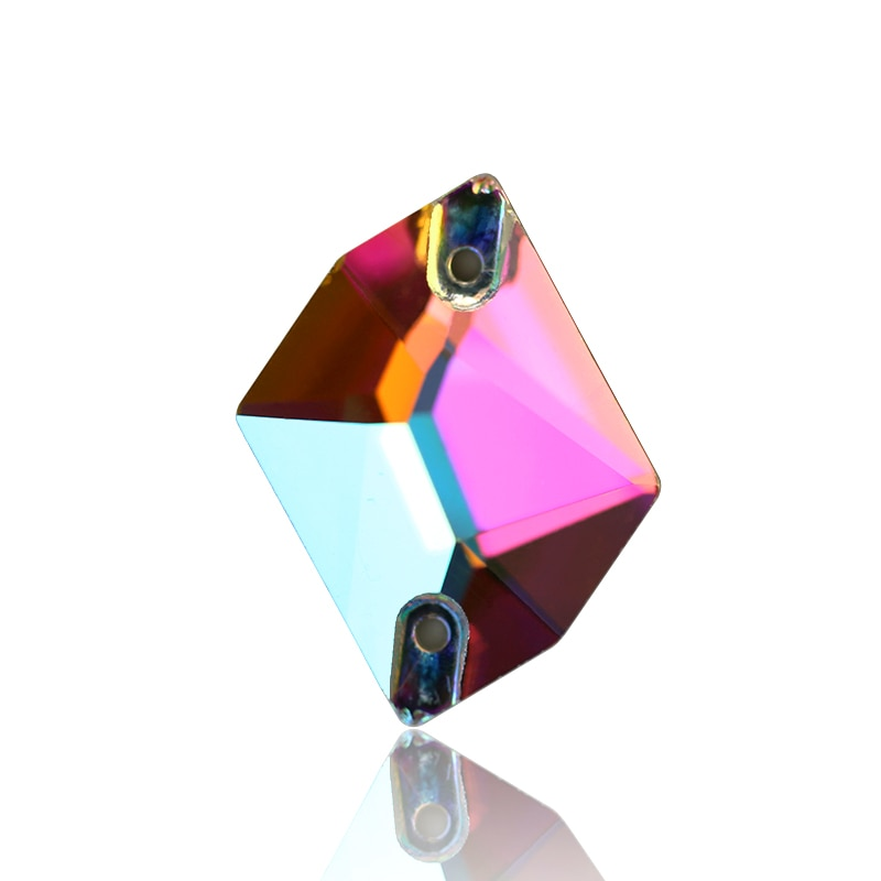 AAAAA качественные космические кристаллы в форме груши 4 размера AB пришивные стразы с плоским основанием Стразы для шитья Кристаллы Камень