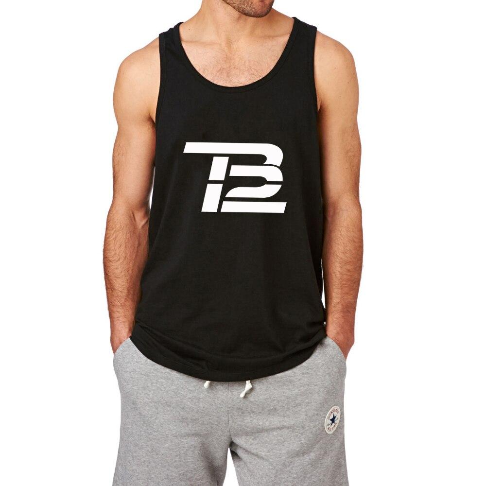 Baño mostrar Tom Brady TB12 entrenamiento tanque Tops hombres