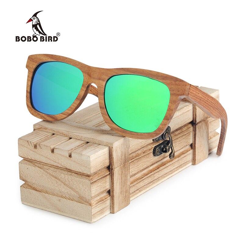 Квадратные Солнцезащитные очки BOBO BIRD для мужчин и женщин, Ретро Поляризованные деревянные солнцезащитные очки