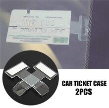 Parkeer Ticket Clip Carbon Fiber Voor Opel Astra J Golf 7 Hyundai I20 Volvo S80 Bora Lancer Mercedes W204