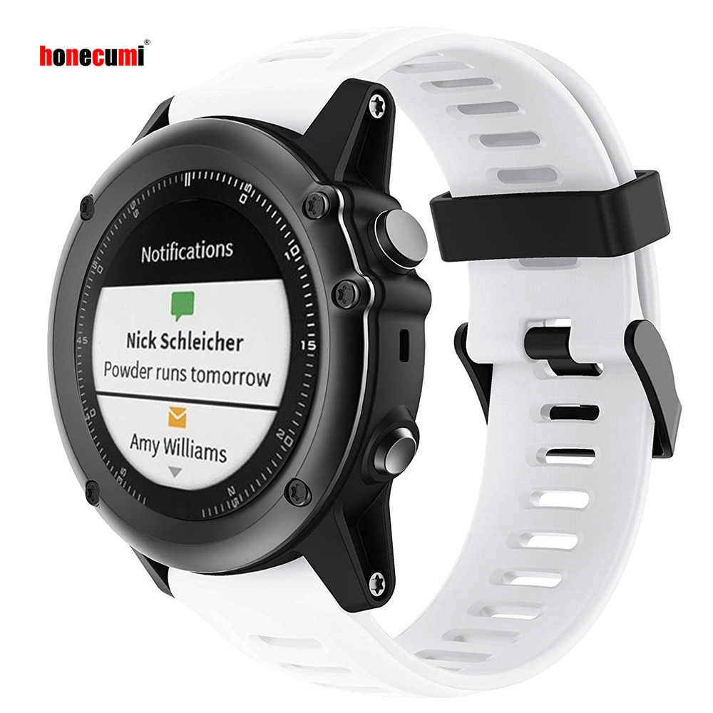Honecumi para Garmin Fenix 5X Correa suave de silicona para reloj Garmin Fenix 3/Fenix 3 HR/Fenix 5X pulsera inteligente