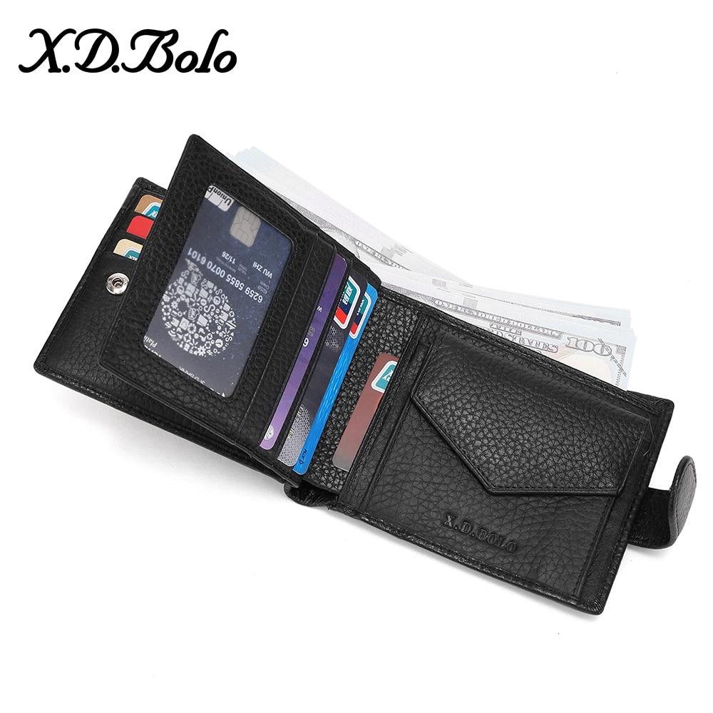 X.D.BOLO 2020 мужской кожаный бумажник мужские кошельки Держатель для карт кошелек из натуральной кожи для мужчин кошелек с карманом для монет сумка для денег
