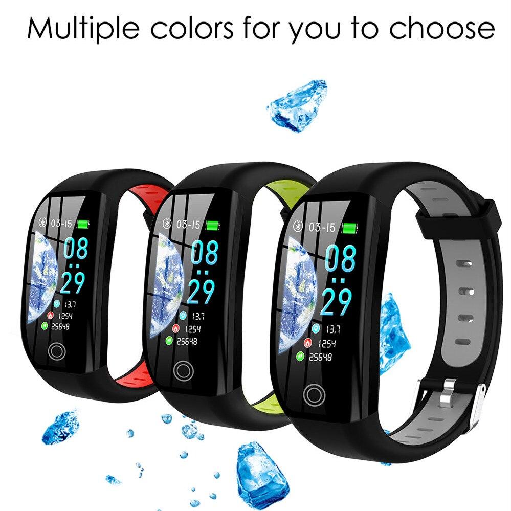 Pulsera inteligente deportiva F21, IP68, impermeable, pantalla de 1,14 pulgadas, rastreador de Fitness, pulsera inteligente para Android IOS