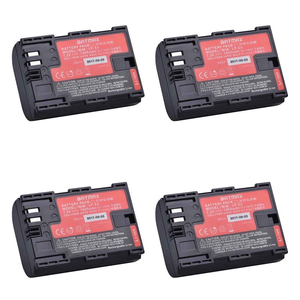 4 Uds LP-E6 LPE6 LP E6N de batería de la Cámara Japón...