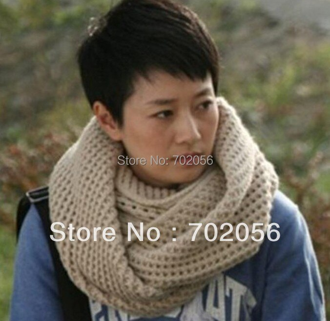 2015 winter knited solid ring scarves Neck warmer shawl poncho Scarf Sarongs Hijabs Bandanas 60*27cm 12pcs/lot #3376