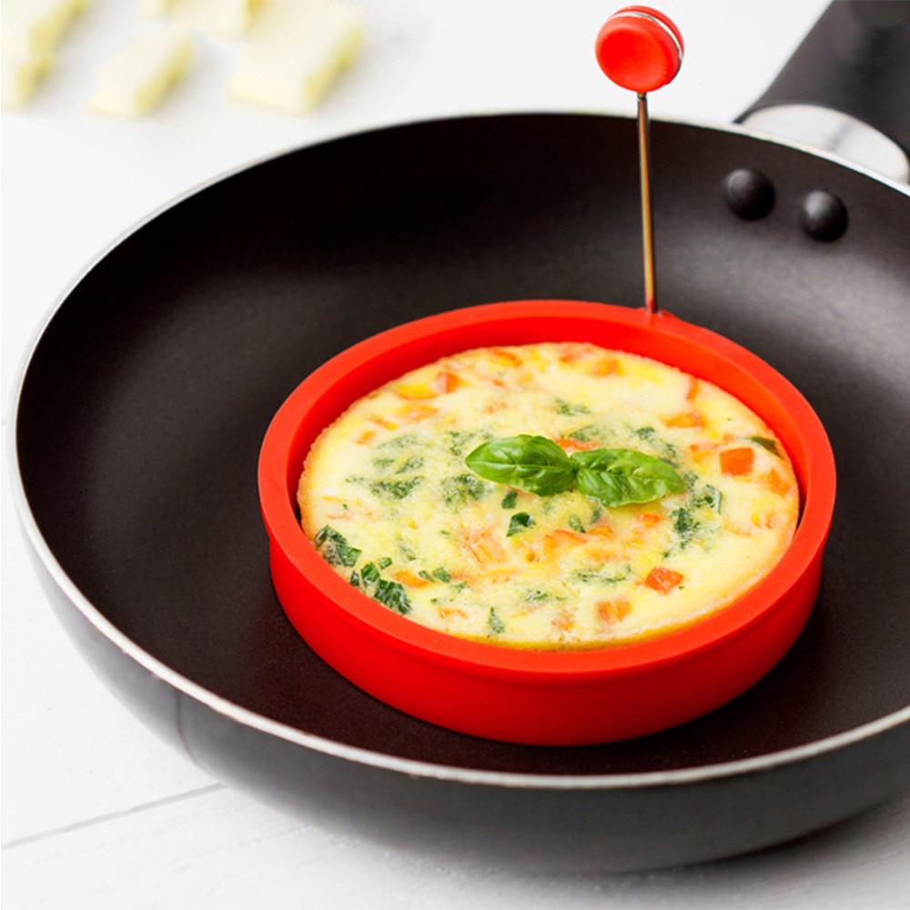 Новая креативная Круглая Форма Силиконовый омлет формирователь яйцо жареная Жарка приготовление блинов форма для завтрака