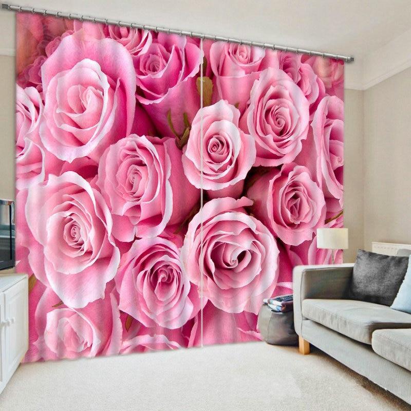 3D impreso Cortinas Para Sala De Estar y dormitorio Cortinas Para Sala De Estar estrellas flores vendido por tamaño del Panel imagen Customizedl