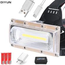 60000LM reflector de mazorca LED faros LED linterna de cabeza de Camping 3 modos linterna de cabeza 3*18650 recargable faro frontal
