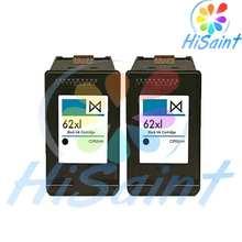 hisaint Hot 2pk for HP62 62XL C2P05AE Black Ink Cartridge For HP ENVY5640 5740 7640 Inkjet Printer Free Shipping