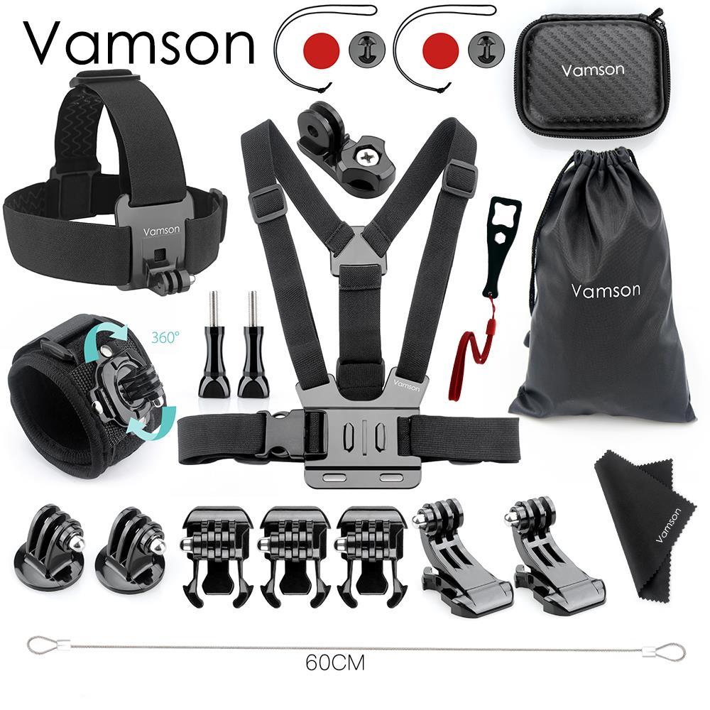 Accesorios de vamson para Gopro Hero 6 5 4 Set Mini caja correa de muñeca adaptador montaje a-ti cuerda para Xiaomi YI para SJCAM VS154A