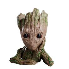 Baby Groot Blumentopf Blumentopf Pflanzer Action-figuren Spielzeug Baum Mann Nette Modell Spielzeug Stift Topf