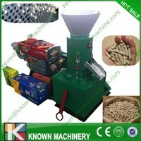 200 kg/h דיזל סוג ביומסה מכונה עץ גלולה מיל יצרנית מחיר עם מערכת התחלה חשמלית
