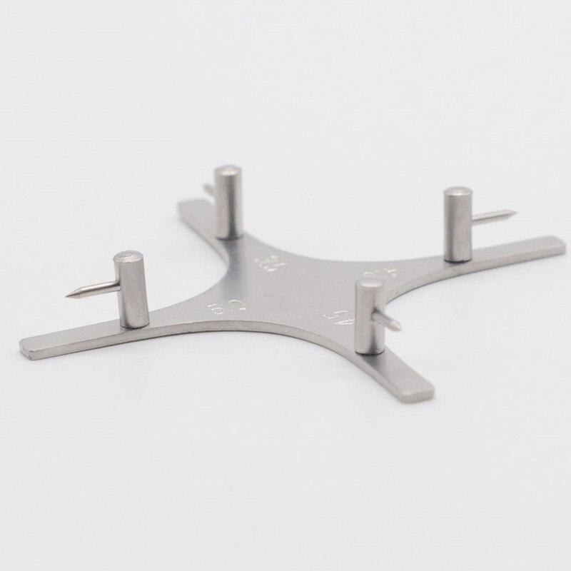 Medidor de posición de soporte de laboratorio de Odontología con puntos de plomo, localizador de aparatos para dentistas, artículo de laboratorio