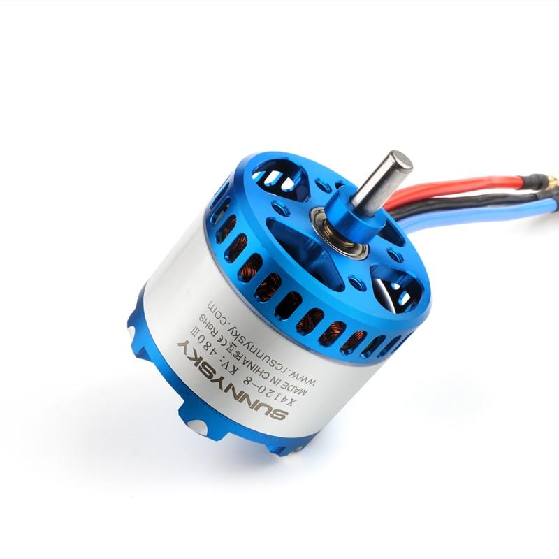 SunnySky X4120 480KV 550KV high effectiveness brushless motor for 3D Stunt Drone enlarge