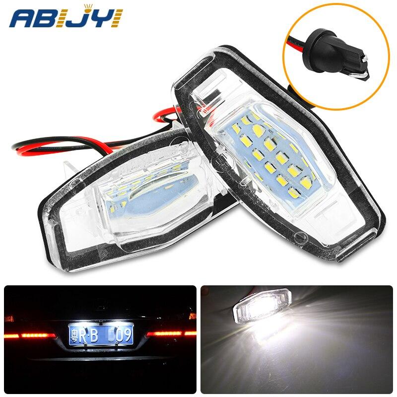 2 uds LED de luz de matrícula de coche libre de Error blanco 6000k lámpara de placa de matrícula para Honda Civic acuerdo ciudad leyenda Acura