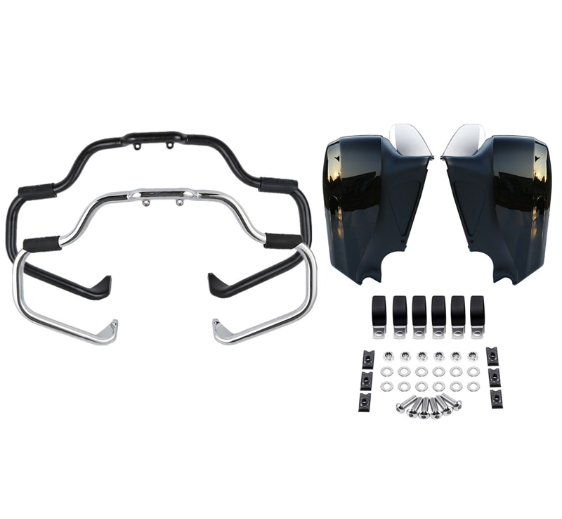 Мотоцикл усы защита двигателя бар нижний обтекатель комплект для индийского вождя Классический Винтаж 2014-2018 темная лошадь ограниченная