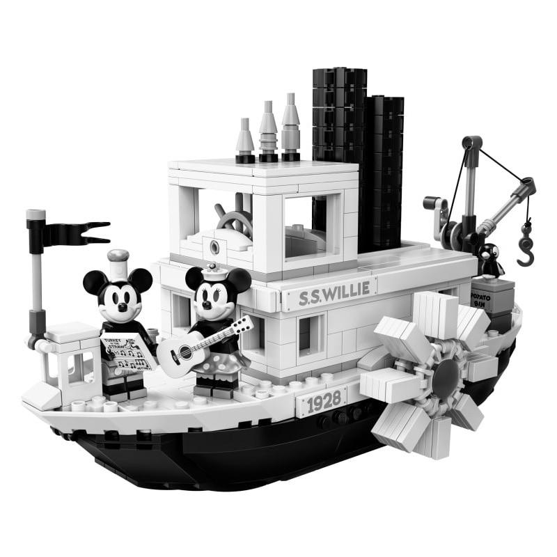 2019 новые идеи Steamboat Willie Movie совместимые блоки 21317 кирпичи игрушки для детей