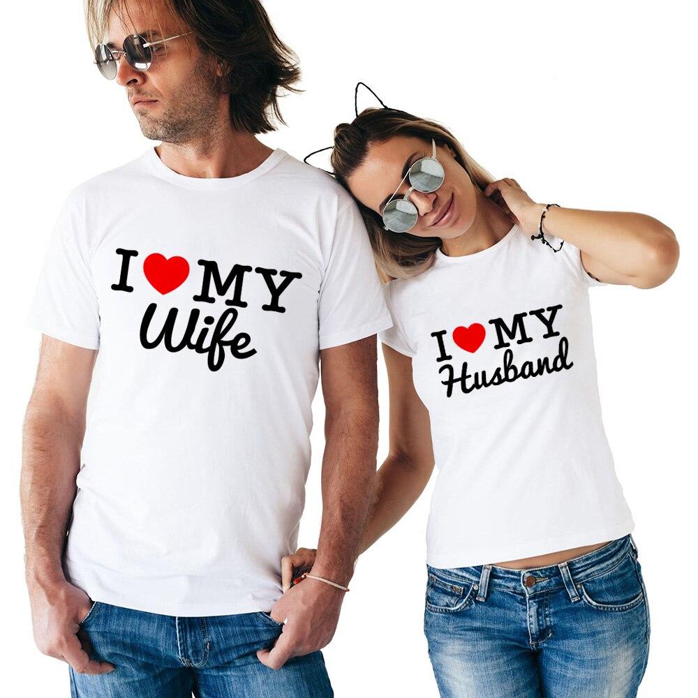 Новое поступление, футболка для любителей вина, жениха, невесты, для мужчин и женщин, с надписью «I Love My Wife», для мужчин и женщин, подарок на св...