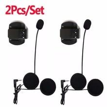 Écouteur et Clip de moto   2 pièces, Microphone et Clip, prise stéréo 3.5mm, pour interphone V6 interphone V4