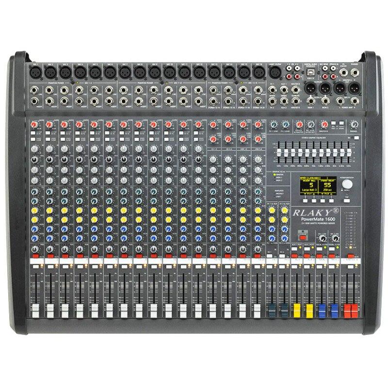 Gran oferta profesional alimentado mezclador De audio para DJ 20 canales Mezcladora De DJ Mikser Mischer con USB y LED