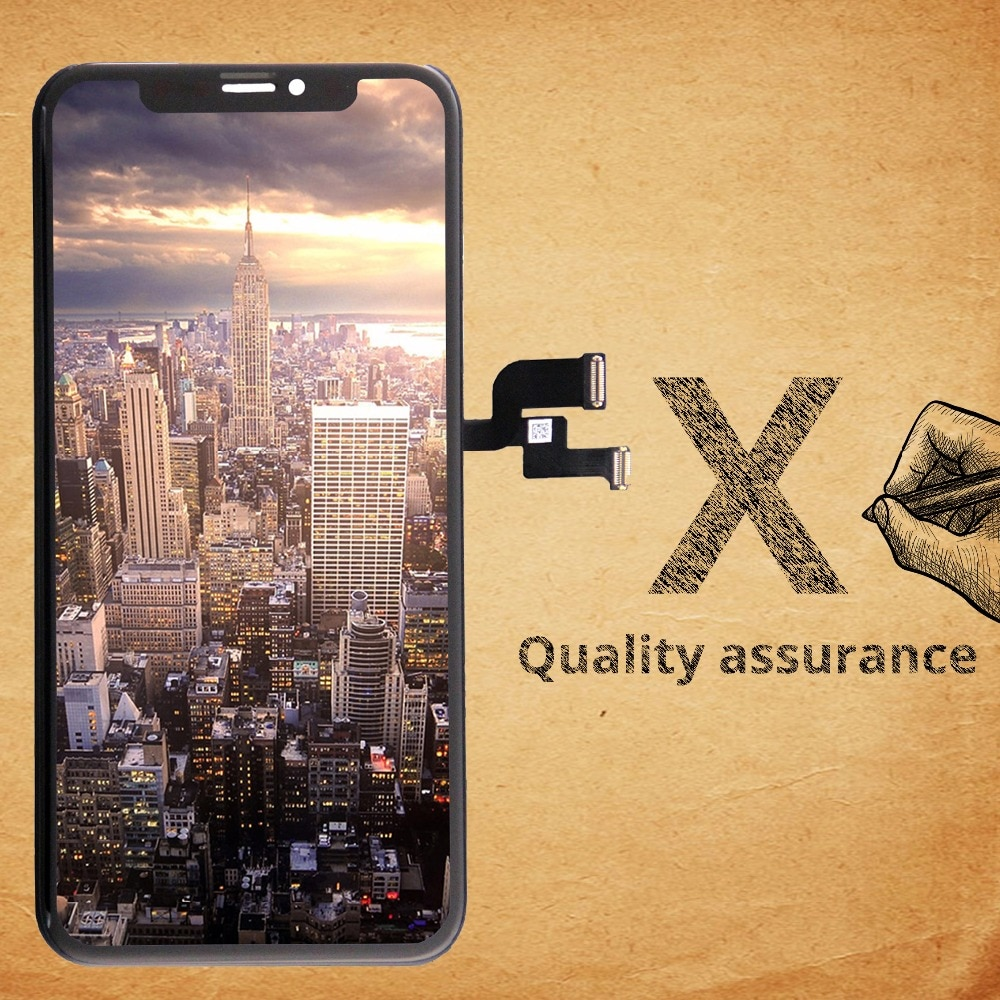 100% OEM AAA No Dead Pixel for IPhone X LCD Display Touch Screen 5.8 inch Digitizer Assembly Replacement Black or White Free DHL enlarge