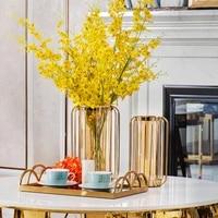 wrought iron vase dried flower arrangement flower decoration ornaments american home living room bedroom decoration