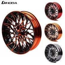 Jantes universelles de roue avant modifiée de type chrysanthème   Pour frein à disque simple de moto 10*2.15 12*2.75