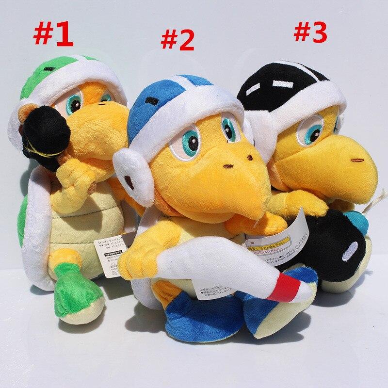Super Mario Bros Koopa Troopa martillo Koopa Troopa Boomerang de peluche de juguete 3 unids/lote