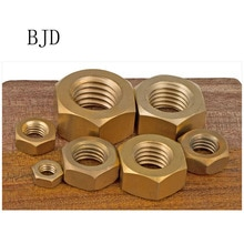 100Pcs DIN934 M1.6 M2 M2.5 M3 M4 M5 M6 M8 M10 H62 Hexagonal Brass Hex Nuts Hexagon Nut HW048