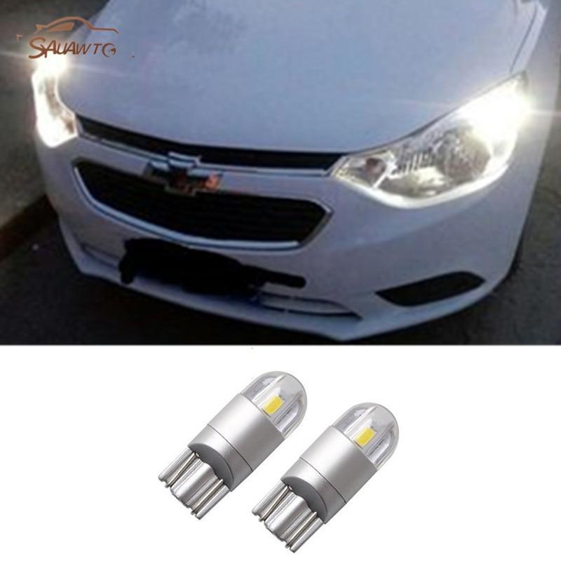 2X T10 светодиодный W5W Автомобильный светодиодный габаритный фонарь парковки для chevrolet cruze aveo lacetti cruz niva spark orlando epica sail sonic lanos