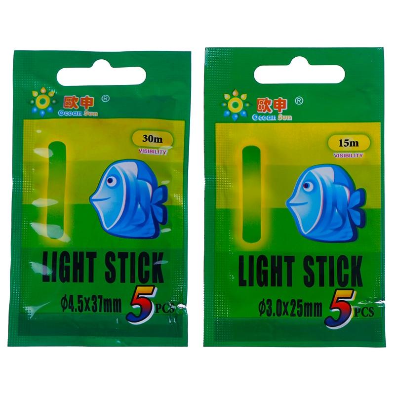25PCS 15/30m Fishing Float Fluorescent Lightstick Light Night Float Rod Lights Dark Glow Stick Useful Lots Fishing
