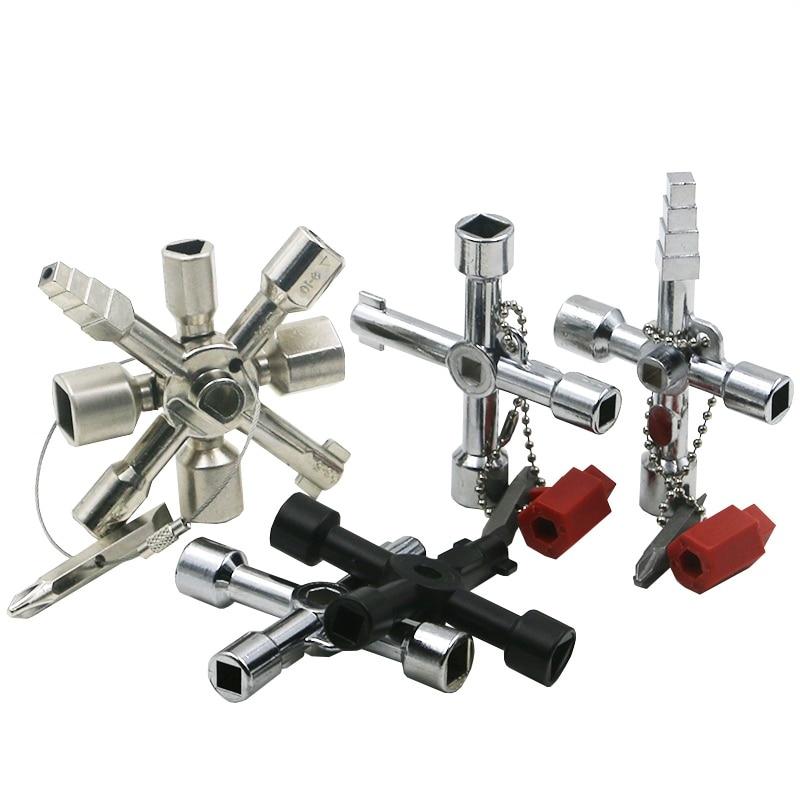 Multi-modelo 10 en 1 llave Universal Transversal llaves de fontanero triángulo para Gas medidor eléctrico gabinetes sangrar radiadores