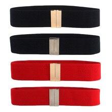 Ceinture extensible élastique pour femmes   Simple, boucle en or, argent, Corset, ceinture, ceinture élastique, BLTLL0061