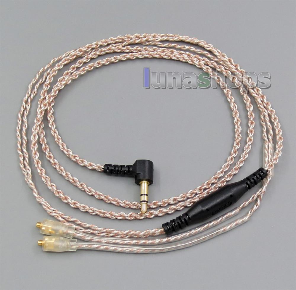 EachDIY de auriculares de plata Chapado en OCC mixto de PU Cable para campanile W60 W50 W40 UM50 UM30 UM10 LN005640