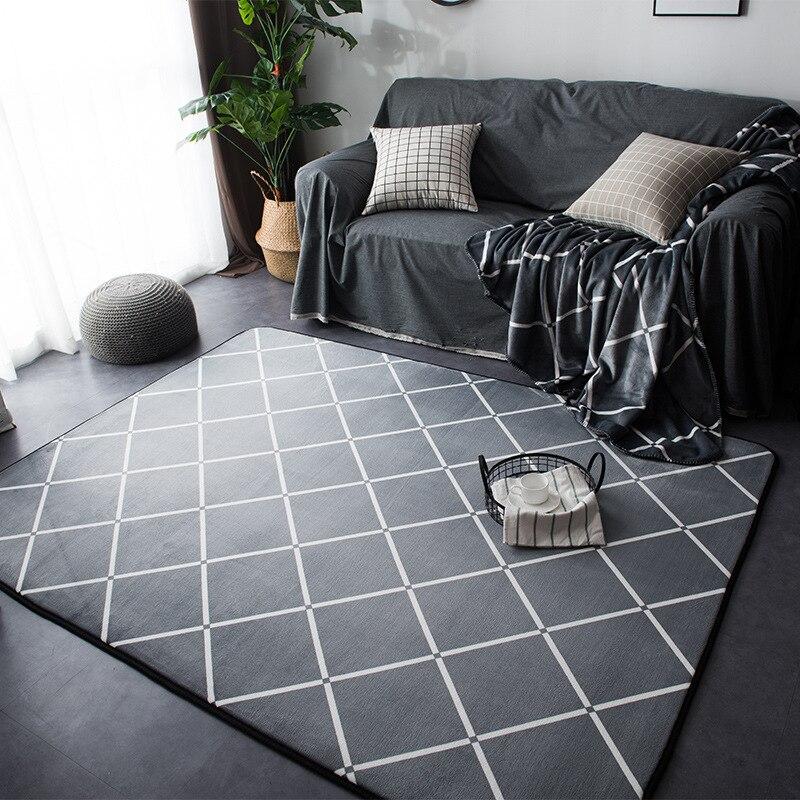 هندسية السجاد و السجاد ل غرفة المعيشة المنزلي لينة الحديثة نوم سجاد أرضية ماصة طاولة القهوة هي البساط اجتماع غرفة الحصير