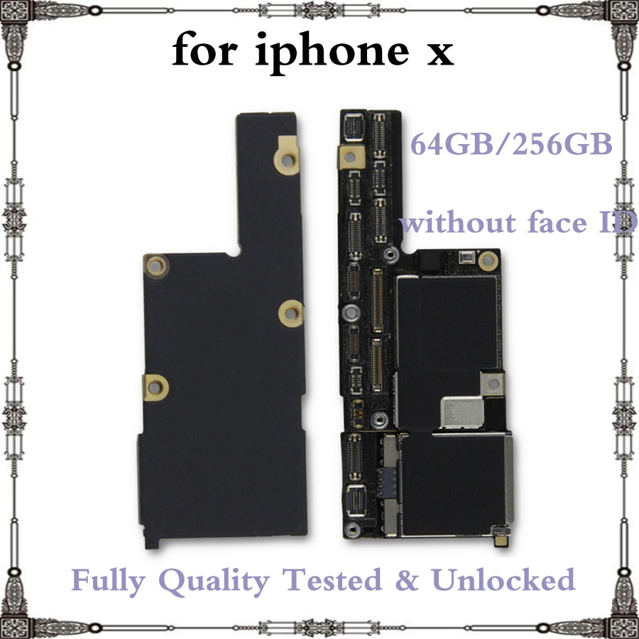 Get Good Working Full unlocked motherboard for iphone X without face ID 100% Original IOS system logic board 64GB 256GB mainboard