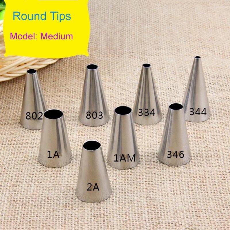 Venta al por mayor 10 uds/lote boquillas para decorar pasteles de tubo glaseado sin costura Fondant para decorar pasteles