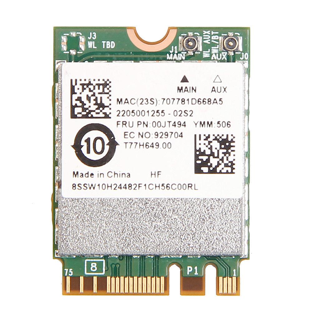 Tarjeta de 867Mbps Broadcom BCM94350ZAE NGFF inalámbrico tarjeta Wifi BT 4,1 Lenovo FRU 00JT494