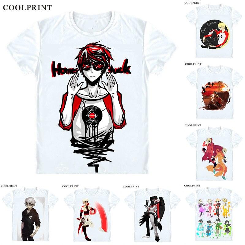 Dave Strider Homestuck camiseta Webcomic serie Juego de Anime de la serie de Anime de la Aduana Casual Cosplay camiseta de impresión de manga corta Camiseta
