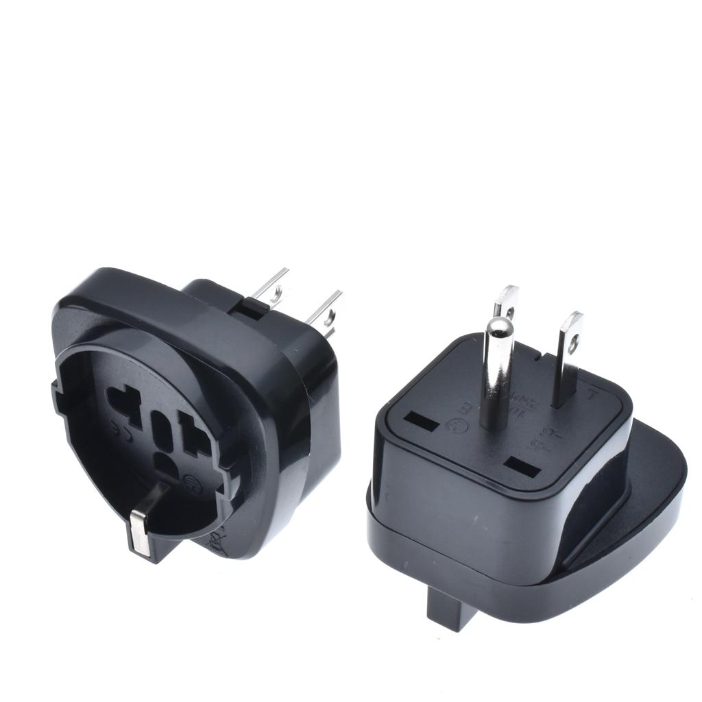2 uds. Blanco negro incrustado Suiza Italia EU alemán convertidor a 3pin AC ee.uu. cable adaptador americano enchufe de alimentación convertidor de viaje
