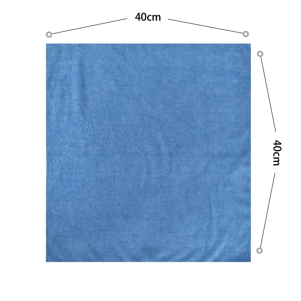 Zipsoft 5 unids/lote 40*40cm toalla de cocina 2020 toallas de microfibra de coche azul amarillo toallas de mano trapos de limpieza paño de cocina