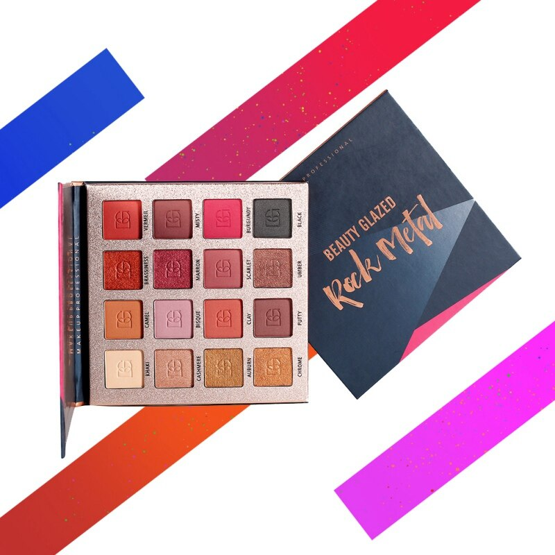 Paleta de maquillaje mate de sombra de ojos de 16 colores con brillo paleta de sombra de ojos de múltiples estilos luminosos K1