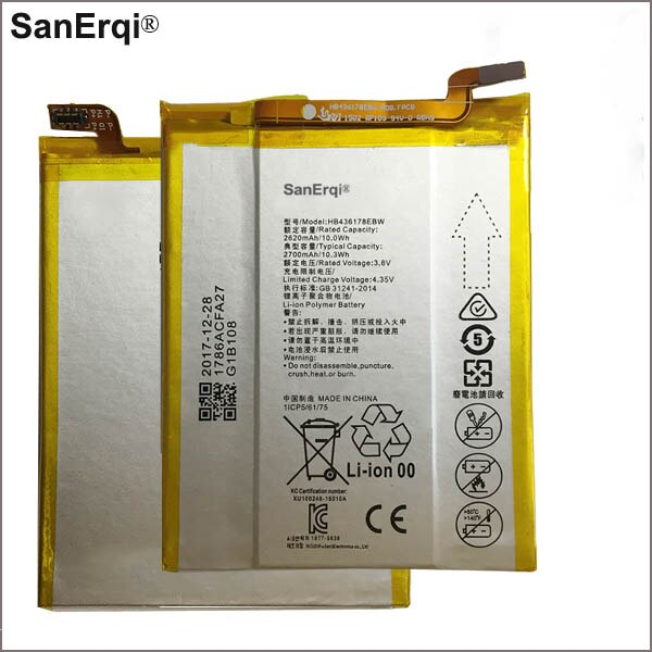Batería para teléfono Huawei Mate S CRR-CL00 UL00 2700mAh HB436178EBW
