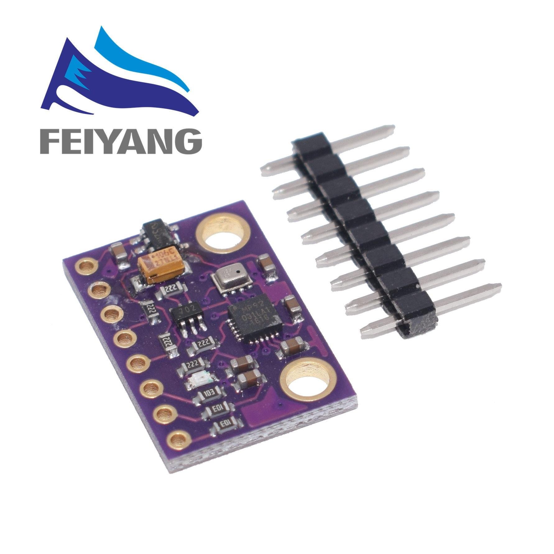 10 Uds MPU-9250 MPU9250 BMP280 SPI IIC/I2C 10DOF aceleración giroscopio brújula 9-Axis placa del Sensor módulo GY-91 para Arduino 3-5V