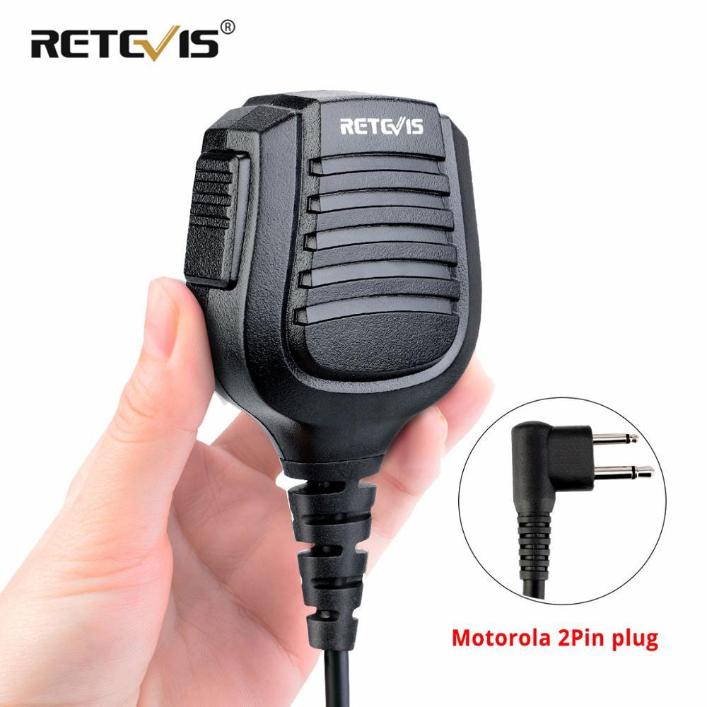 IPX5 Водонепроницаемый 2Pin M разъем динамик микрофон микрофоны для Motorola микрофон CP200/GP300/GP68/GP88 Retevis RT54 HYT Walkie Talkie